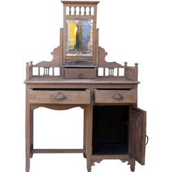 Guru-Shop Schreibtisch Schminktisch, Ankleide Schrank - Modell 40