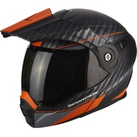 Scorpion ADX-1 Dual Matt-Schwarz/Silver-Orange