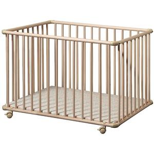 Schardt Laufgitter BASIC 75 x 100 cm, natur lackiert, Folie Bubbles grün
