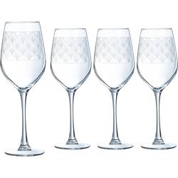 Luminarc Weinglas Paradisio (4-tlg), Glas, mit Pantographie-Optik