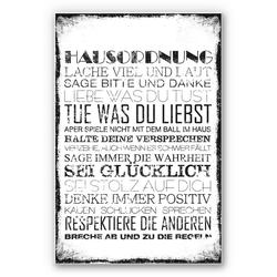 Home affaire Wandbild Hausordnung 40 cm x 60 cm