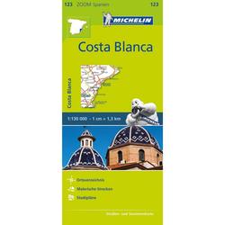Michelin Zoomkarte Costa Blanca 1 : 130 000 - Straßenkarten