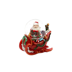 SIGRO Schneekugel Schneekugel Santa mit Schlitten