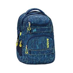 Wave Schulrucksack Infinity, Schultasche, für die weiterführende Schule, Rucksack für Mädchen und Jungen blau