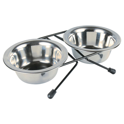 Trixie Eat on Feet Stainless Steel Bowl Set, Durchmesser: 10 cm