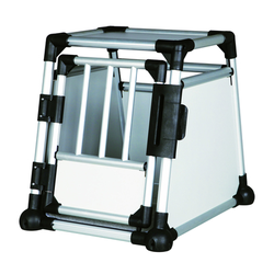 Trixie Hundebox Alubox Autobox für Hunde, S: Breite 48 × Höhe 57 × Tiefe 64 cm