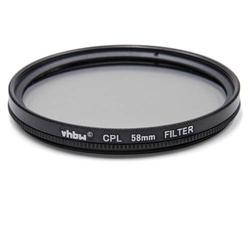 vhbw Universal CPL-Pol-Filter 58mm passend für Kamera Canon MP-E 65 mm 2.8 (Lupenobjektiv), Canon TS-E 90 mm 2.8.