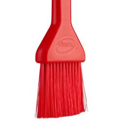 Vikan Lebensmittelpinsel, 50 mm, weich, Backpinsel mit dünnen und weichen Borsten, Farbe: rot