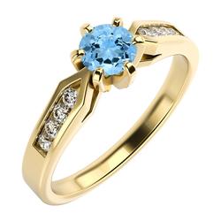 Verlobungsring mit Topas und Diamanten Doane