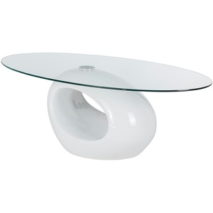 Basispreis* Couchtisch Glas oval  Corsica ¦ weiß