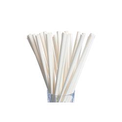 LUXENTU Trinkhalme Papier Trinkhalm Jumbo 100 Stück weiß, (100-tlg)