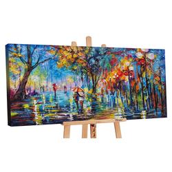 YS-Art Gemälde Herbstliche Allee PS059