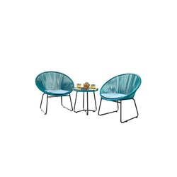 HTI-Line Sitzgruppe Terrassenmöbel Almeria, (2x Sessel, 1x Tisch, 3-tlg), Terrassenmöbel