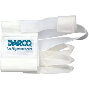 Darco Zehenausrichtungsschiene, latexfrei, elastisch, Metatarsalband, weiche Zehenriemen, Ballenschiene, ideal für Hallux Valgus und Hammerzehen, postoperative Ausrichtung, Klettverschluss