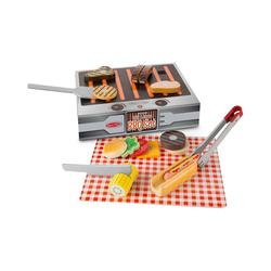 Melissa & Doug Spielgeschirr Grill-Set aus Holz, 20 Teile bunt