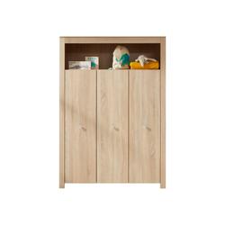 ebuy24 Kleiderschrank Olja Kleiderschrank Kinderzimmer mit 3 Türen und 1