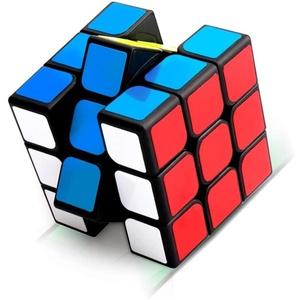 Favson Lernspielzeug Zauberwürfel, 3x3 Zauberwürfel, Magic Cube, Puzzle Cube, Speedcube für Konzentrations und Kombinationsübungen, Dreht Sich Schneller und Präziser