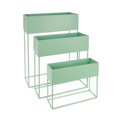 Koopmann Blumenkasten 3er-Set Stand-Blumenkasten 50 x 20 x 64 cm + 46 x grün
