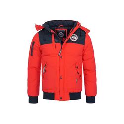 Geographical Norway Winterjacke GNVOLVA Herren Winter Jacke mit Kapuze rot M
