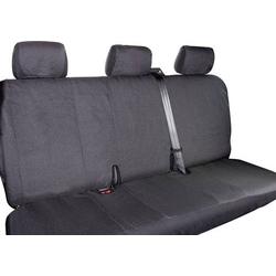 Eufab 28301 T5 3-er Sitzbezug 1 Stück Polyester Schwarz Rücksitzbank (3er)