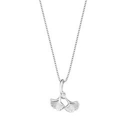 amor amor Kette mit Anhänger für Damen, Silber 925, Ginkgoblatt