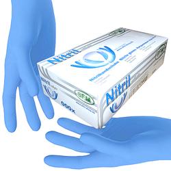 SFM ® SOFTLIGHTS : L Nitrilhandschuhe puderfrei F-tex blau (100)