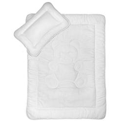 Kinderbettdecke + Kopfkissen, Kinderbettenset mit Bärchensteppung, KiGATEX, 2-teilig