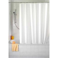 Duschvorhang Uni weiß, 180x200 cm