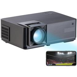 LED-LCD-Beamer mit WLAN, Media-Player, 1280x800 Pixel (WXGA), 3.000 lm