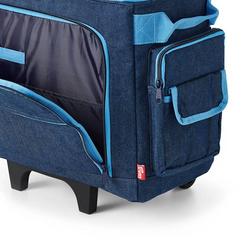 PRYM Nähmaschinen-Trolley Jeans, 100% Baumwolle, Aufbewahrung, Handarbeitstaschen