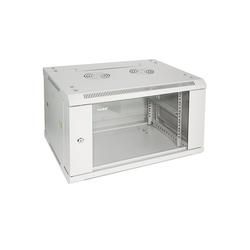 HMF Serverschrank 19 Zoll, Tiefe: 45 cm, 6-9 HE Netzwerk-Switch (6 HE, Netzwerkschrank voll Montiert, 60 x 45 x 37 cm, Lichtgrau) 60 cm x 37 cm x 45 cm