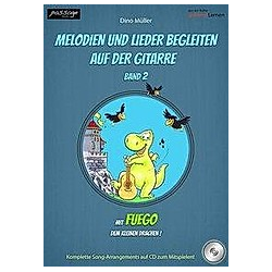 Melodien und Lieder begleiten auf der Gitarre  Band 2. Dino Müller  - Buch