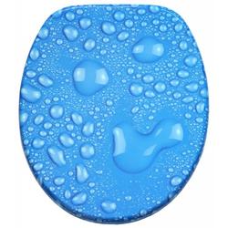 WC-Sitz Tautropfen-Blau