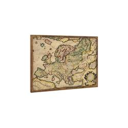 art.work Leinwandbild, Europakarte auf Leinwand 80x60 Gerahmt