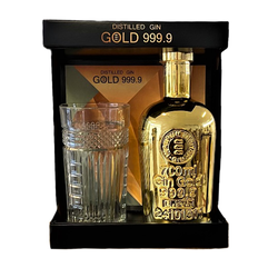 Gin Gold 999.9 Geschenkbox mit Glas