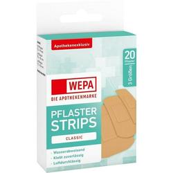 WEPA Pflaster Strips Classic wasserabw. 3 Größen