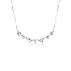 Elli Kette mit Anhänger Kreise Kristalle 925 Sterling Silber, Kristall Kette