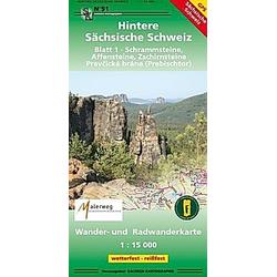 Hintere Sächsische Schweiz Blatt 01. Schrammsteine  Affensteine  Zschirnsteine 1 : 15 000 - Buch