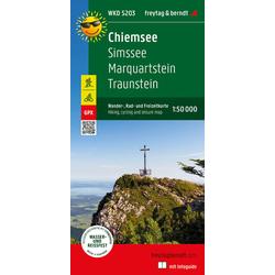 Chiemsee Simssee Marquartstein Traunstein Wander + Radkarte 1:50.000 mit Outdoor Guide