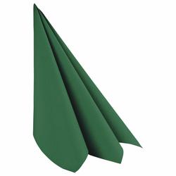 Servietten Airlaid 40x40cm 1/4 -Falz stoffähnlich hochw. dunkelgrün, 50 Stk.