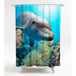 Duschvorhang Delphin Korallen 180 x 200 cm