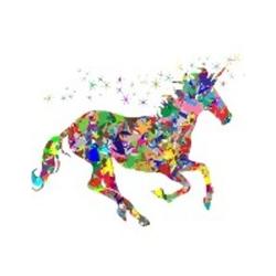 Colorful Unicorn Notebook als Buch von Rwg
