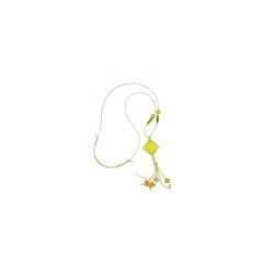 Gallay Kette ohne Anhänger Kette Viereck, zitronen-gelb