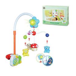 Moni Mobile Mobile für Babybett, Laufstall Tiere, verschiedenen Funktionen, Musik und Licht