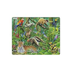 Larsen Puzzle Rahmen-Puzzle, 70 Teile, 36x28 cm, Regenwald, Puzzleteile
