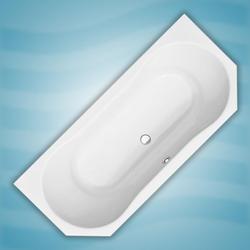 Badfaszination Exclusive Vorwandbadewanne Hoorn Weiß 180 x 80 x 44 cm