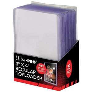 Ultra Pro 3x4 Clear Regular, 25 Stück Toploader Dicke Kartenhüllen Sleeves - für Sammelkarten wie Pokemon Magic - Standardgröße Transparent