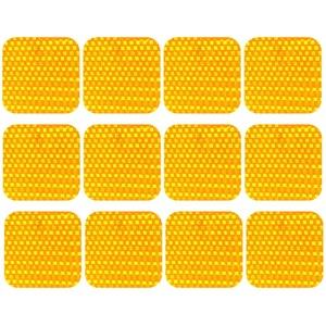 12 Leuchtaufkleber Reflektoren Aufkleber Sticker,Reflektor Aufkleber Set,reflexfolie selbstklebend,reflexfolie Fahrrad,Reflektoren Aufkleber für Kinderwagen Fahrrad und helme (Orange)