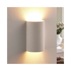 Halbrunde LED-Gipswandlampe Colja