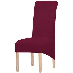 KELUINA XL Stuhlhussen,Universal Stretch Stuhlhussen 2er 4er 6er Set Stuhlbezug für Stuhl Esszimmer(Weinrot,6 Stück)